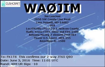 EQSL_WA0JIM_20160603_110800_40M_JT65_1