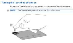 touchpad-on off