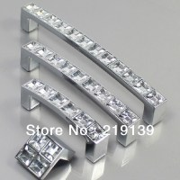 64mm Clear Crystal Zinc Alloy Cabinet Door Knobs And ...