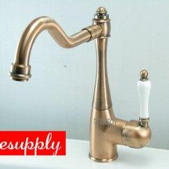 Antique Copper Kitchen Faucet Storage Table New Bathroom Basin Sink Mixer Tap