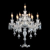 candelabra table lamp crystal table light crystal table ...