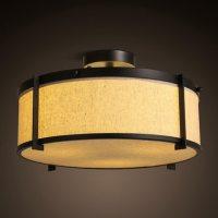 iron+fabric lampshade chinese/japanese style ceiling light ...