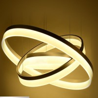 modern chandelier acrylic lamps 3 ring led chandelier ...