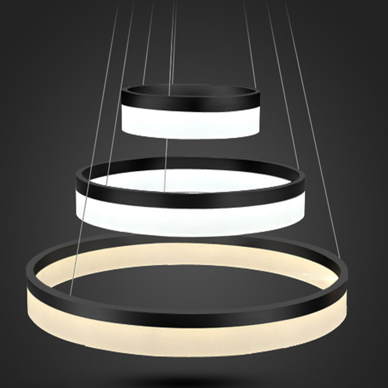 modern luxury led ring chandelier light fixture for dining