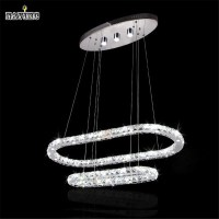 new art deco annular led k9 lustre crystal chandelier ...