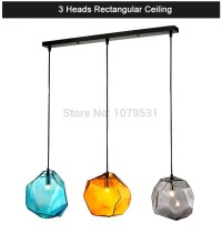 colorful crystal glass stone pendant light by italy ...