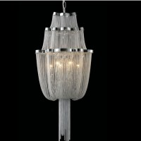 french chain chandelier light fixture long empire chain ...