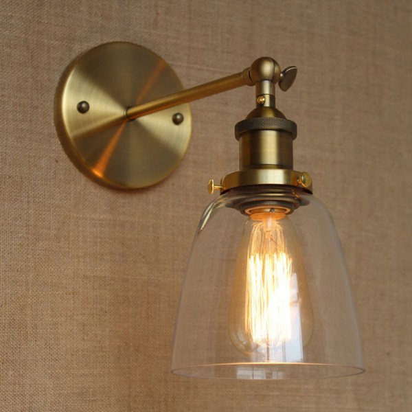 Vintage Wall Sconces with Lamp Shades