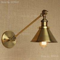 retro single swing arm wall lamp for bedroom bedside ...