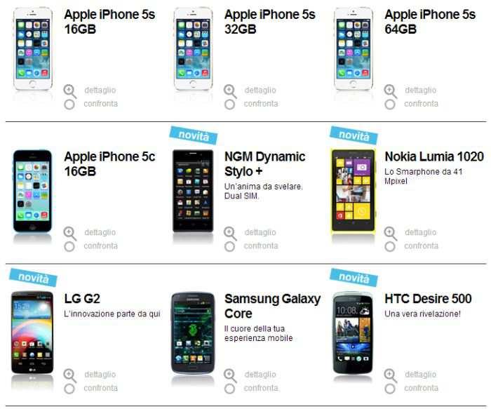 Smartphone inclusi H3G Italia promozioni in abbonamento ricaricabile
