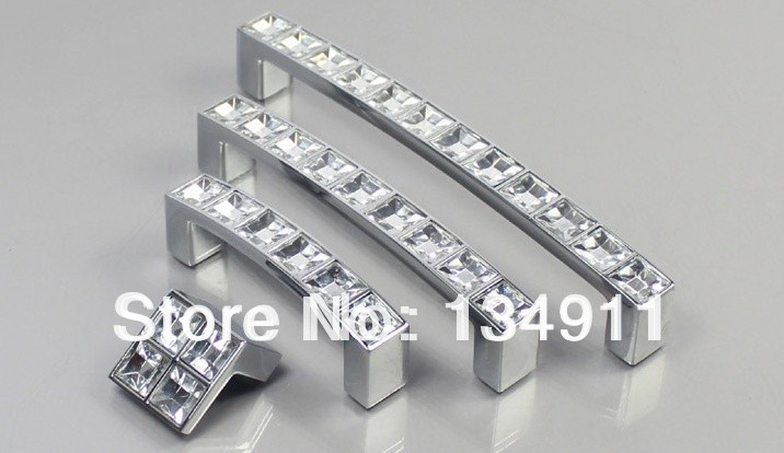 64mm crystal knobs/pulls : Decorative Kitchen Cabinet
