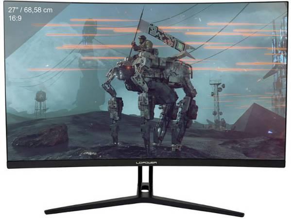 LC Power LC-M27-FHD-144-C Gaming monitor 68.6 cm (27 inch) Energielabel B (A++ - E) 1920 x 1080 pix Full HD 4 ms HDMI, DisplayPort VA LCD