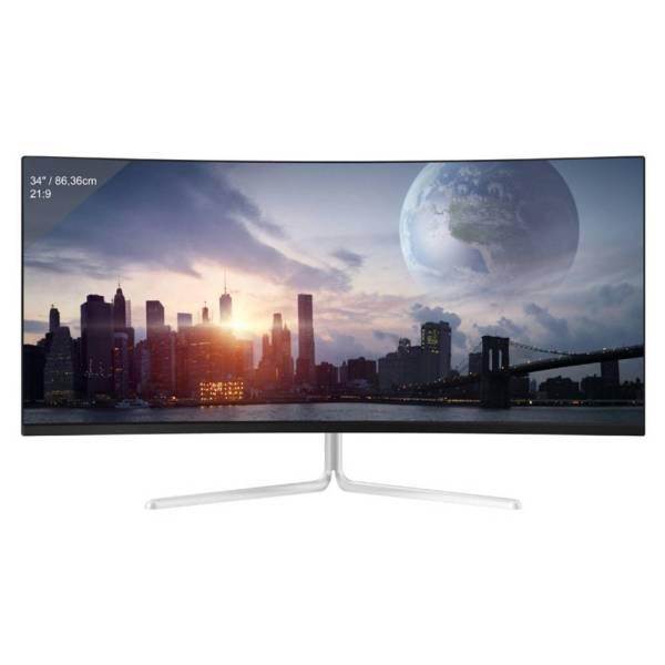 LC Power LC-M34-UWQHD-100-C-V2 Gaming monitor 86.4 cm (34 inch) Energielabel G (A - G) 3440 x 1440 Pixel UWQHD 4 ms HDMI, DisplayPort VA LCD