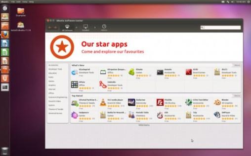 Ubuntu 11.10 beta 2 - Exibindo a central de programas