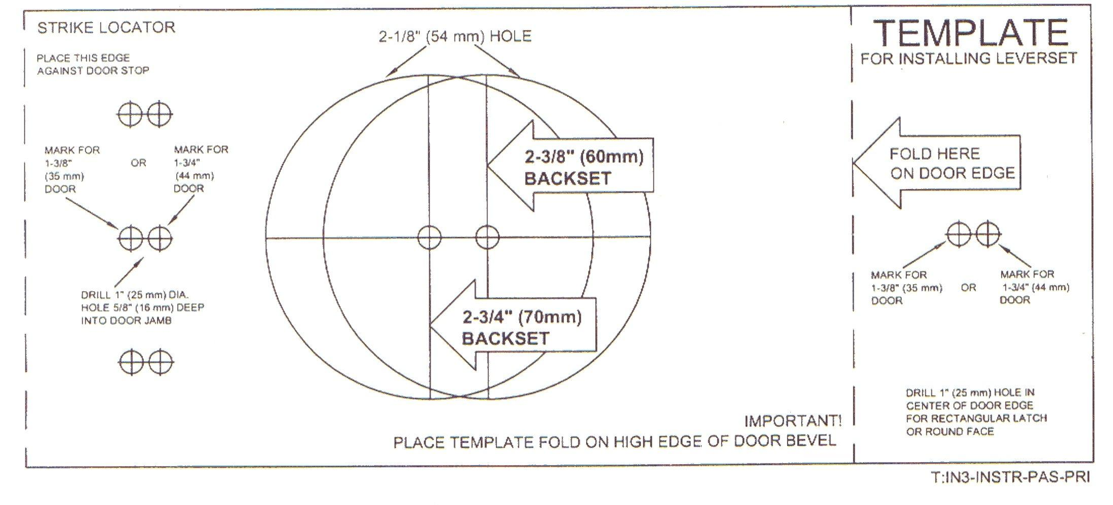 Door Backset Template Amp Electric Locking Systems