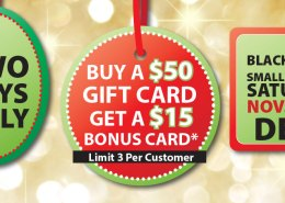 Neu's Gift Card Bonus Black Friday, Small Business Saturday