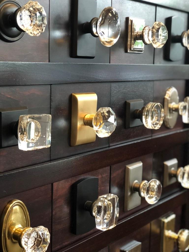 emtek crystal knobs