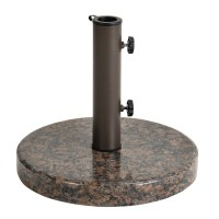 Astonica Coffee Round Granite Patio Umbrella Stand Base