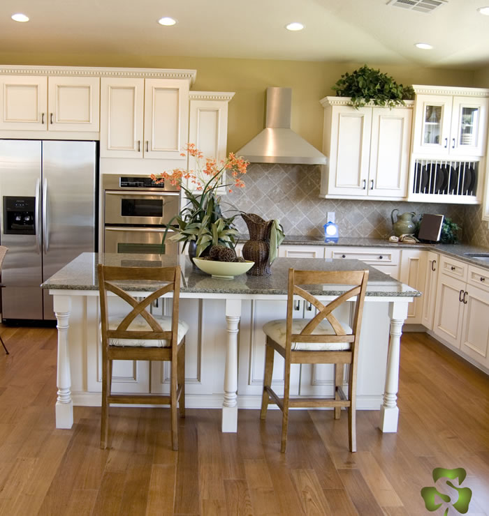 wood flooring for kitchen white modern cabinets mix don t match textures and colors experts across the american hardwood information center
