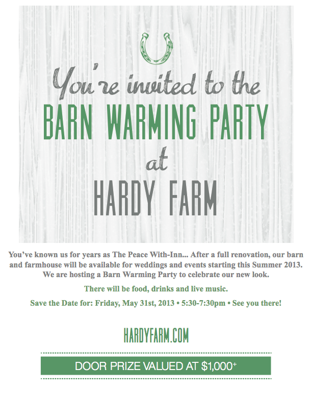 hardy farm barn warming