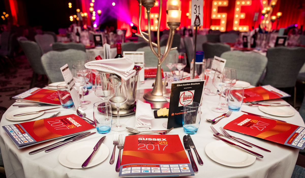 Sussex Business Awards - Held at The Grand, Brighton