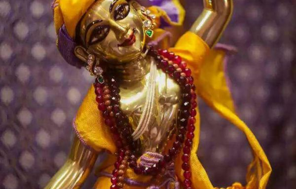 Gaura Nitai Deity One hand up and one hand down of 10 Inches