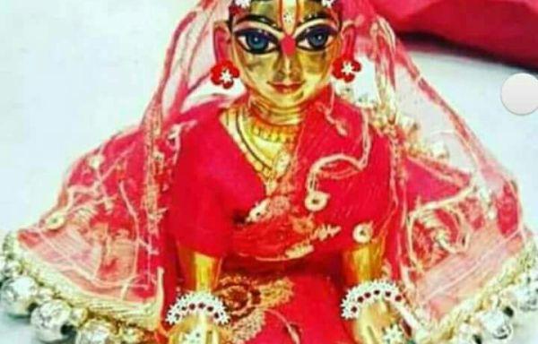 Radharani Deity made of Asthadhatu 4.5 Inches