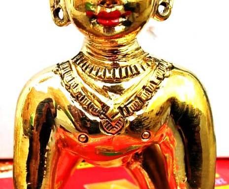 Radharani Deity made of Asthadhatu 4 Inches