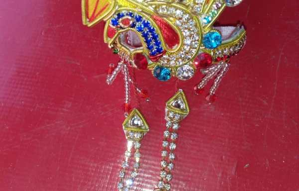 Mukut or Crown for the the Deities Gopal or Gaura Nitai- Free size any Deity can wear