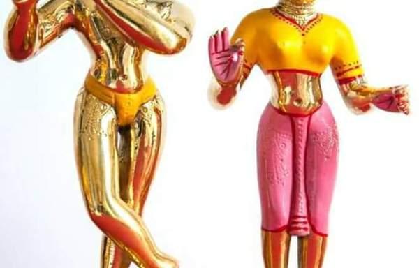 Lord Radha Krishna Deities / Murty / Statue / Vigraha 12 Inches ( Origin Asthadhatu Metal 10 Kgs weight)