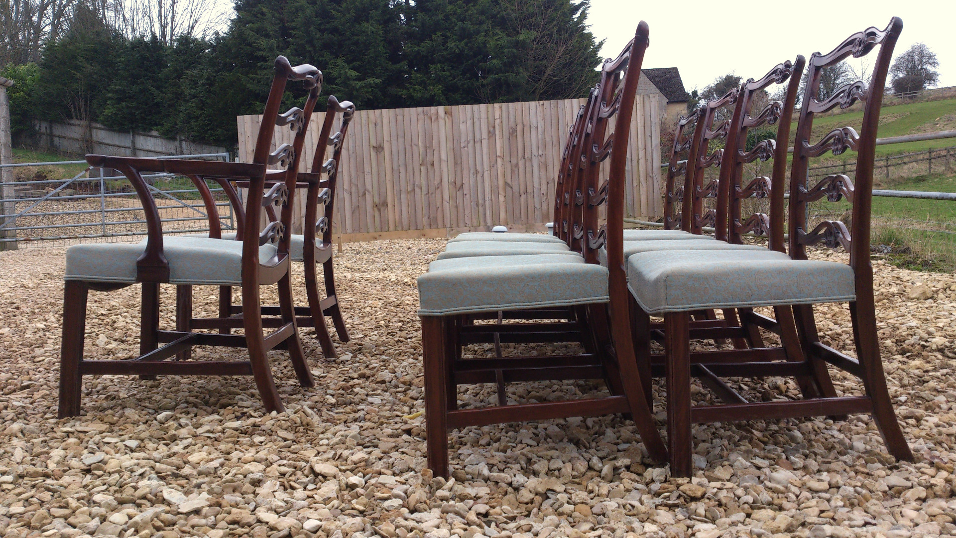 antique ladder back chairs value childrens desk and chair set uk dining sets of 10 hares antiques