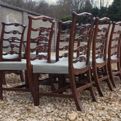 Antique Ladder Back Chairs Value Colored Dining Sets Of 10 Hares Antiques