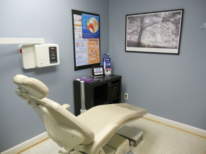 Fallston Maryland dentist office examination room