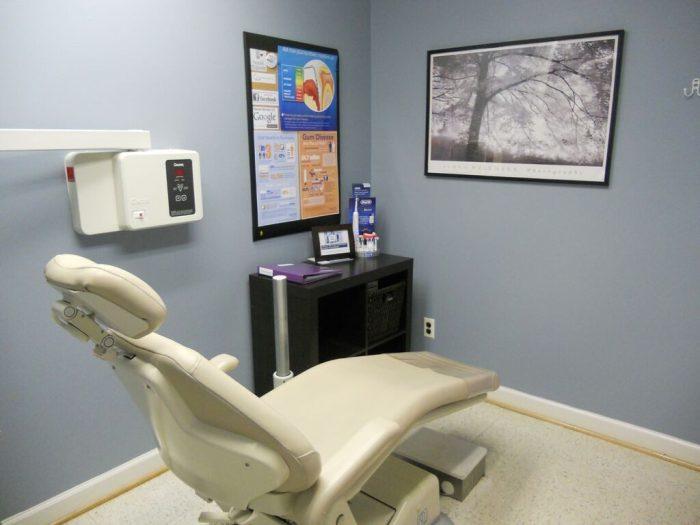 Fallston Maryland dentist office examination room