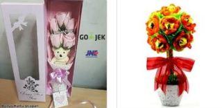 harga bunga valentine murah dengan boneka lucu