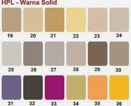 HPL Solid Warna Terbaru