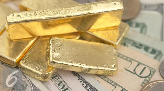 Dolar AS perkasa, harga emas dekati level terendah