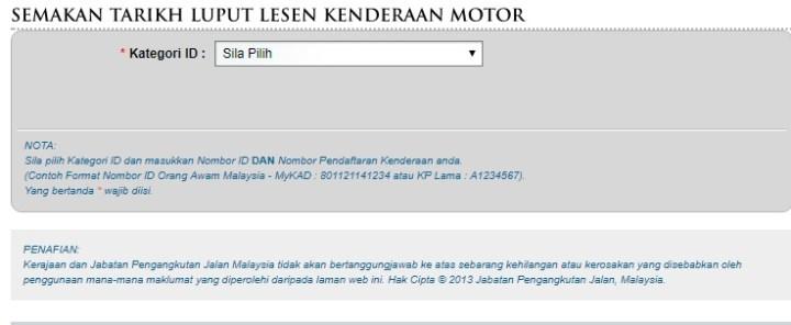 Semakan Tarikh Tamat Roadtax Dan Insuran Online