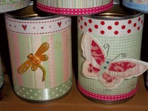 diy wedding tin vases