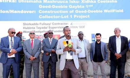Madaxweyne Ku Xigeebka Somaliland Iyo Wafti Uu Hogaaminayo Oo Ka Qayb Galay Munaasibad Lagu Shaacinaayey Dhamayistirka Mashruuca..
