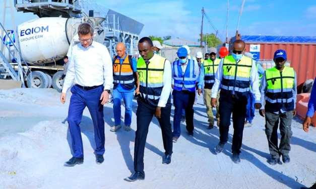Wafti Ka Socda Safaaradda Germany ee Nairobi oo Kormeer ku Tagay Mashruuca Biyo Galinta Caasimada Gudaheeda