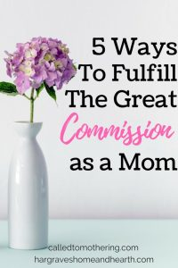 5 Ways Moms Can Fulfill the Great Commission
