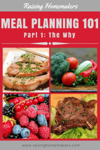 Meal Planning 101 Part 1: The Why