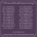 January 2018 Scripture Writing Plan: The Trustworthy Plans of God