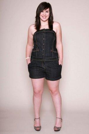 Model Celana dan Baju Kodok Denim untuk Wanita Gemuk Terbaru