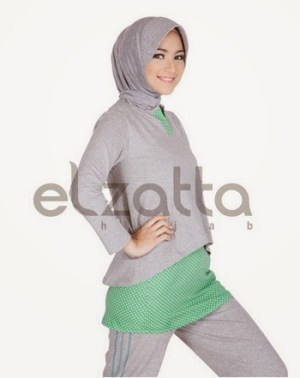 Model Baju Senam Muslim dari Elzatta