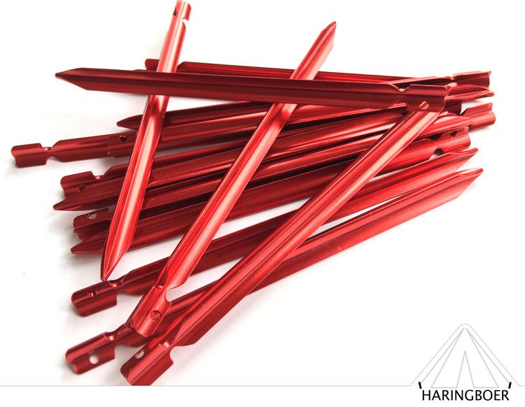 vleugelharingen kopen 15cm rode aluminium haringen voor uw tent haring