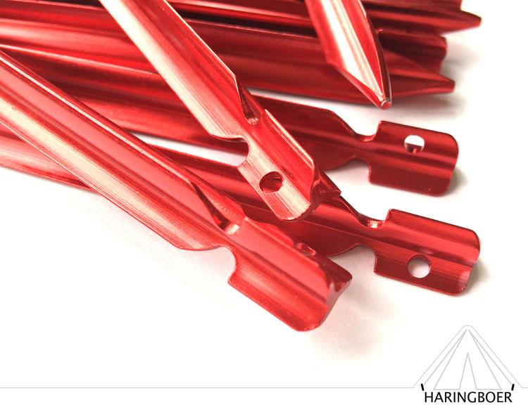 vleugel haringen kopen 15cm rode aluminium haringen voor uw tent haring