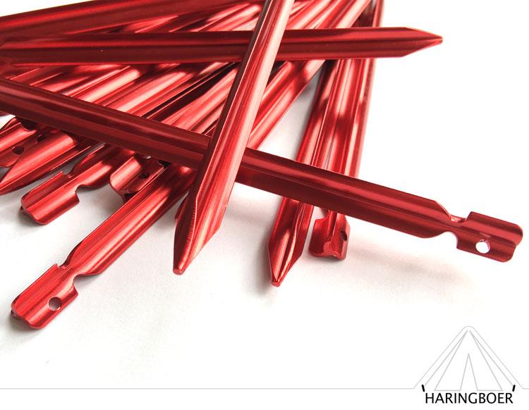 tentharingen kopen 15cm rode aluminium vleugel haringen voor uw tent haring