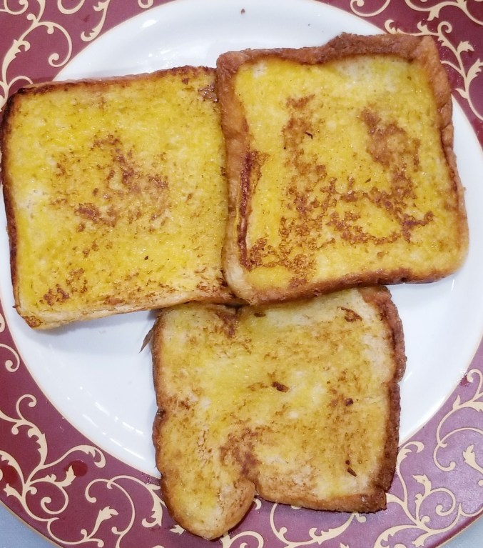 Yummy Eggless French Toast is ready to serve hot.